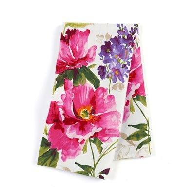 Sateen Bright Pink Floral  Napkin, Set of 4