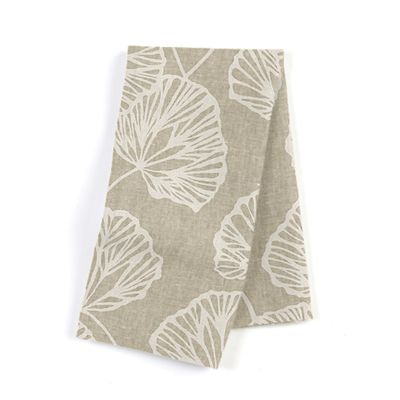 Beige Fan Leaf Napkins