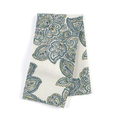 Paisley-Style Aqua Damask Napkins