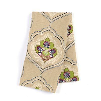 Green & Purple Lotus Motif Napkins