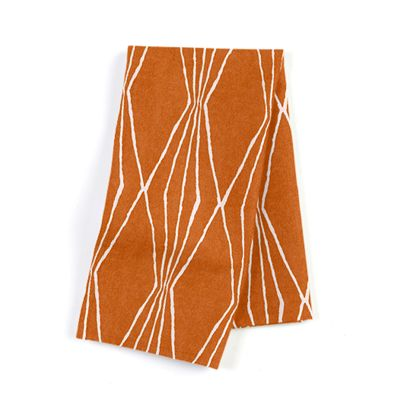 Burnt Orange Diamond Napkins