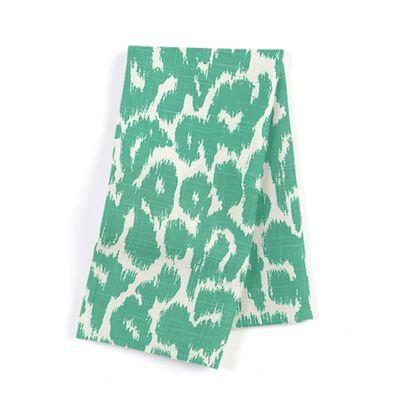 Bright Green Leopard Print Napkins