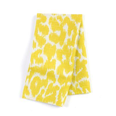 Yellow Leopard Print Napkins