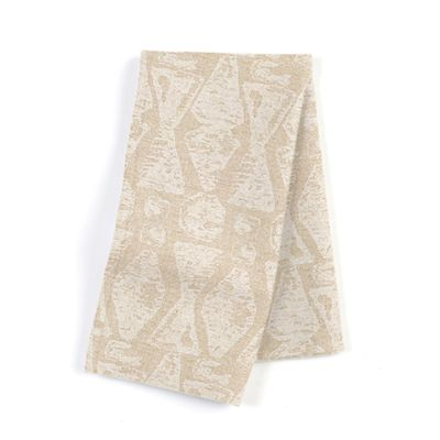 White & Natural Tribal Print Napkins