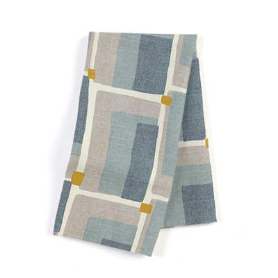 Blue & Gray Geometric Napkins