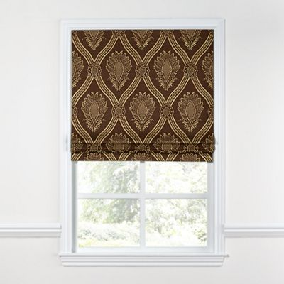 Brown Medallion Trellis Roman Shade
