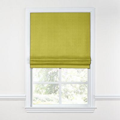 Chartreuse Green Linen Roman Shade