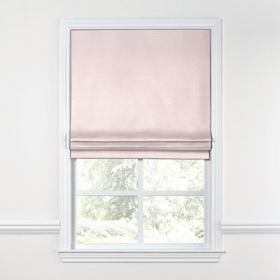 Pale Pink Linen Roman Shade
