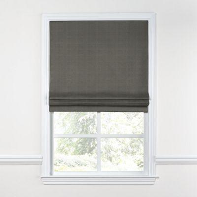 Charcoal Gray Linen Roman Shade