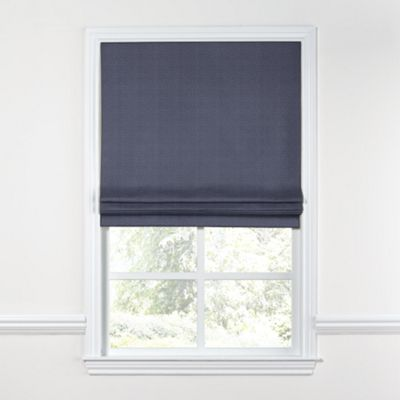 Navy Blue Lightweight Linen Roman Shade