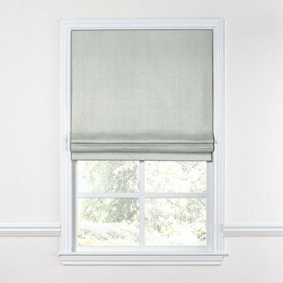 Pale Gray Slubby Linen Roman Shade