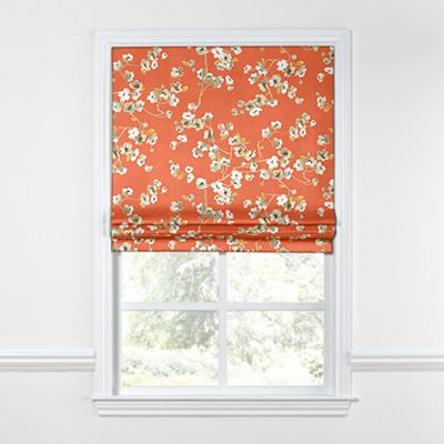 Orange Cherry Blossom Roman Shade