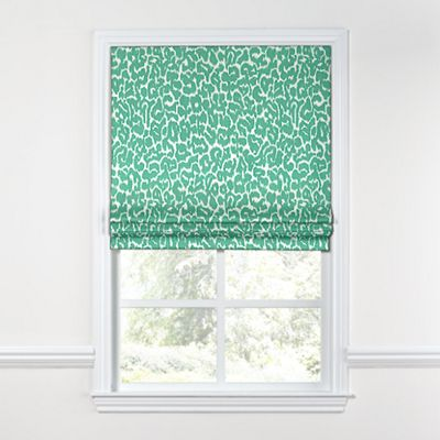 Bright Green Leopard Print Roman Shade