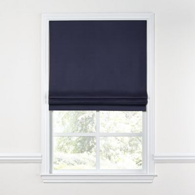Navy Blue Sunbrella® Canvas Roman Shade