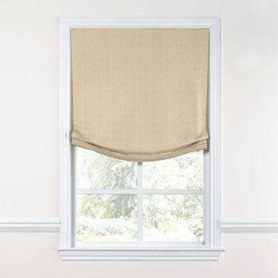 Beige Lightweight Linen Relaxed Roman Shade
