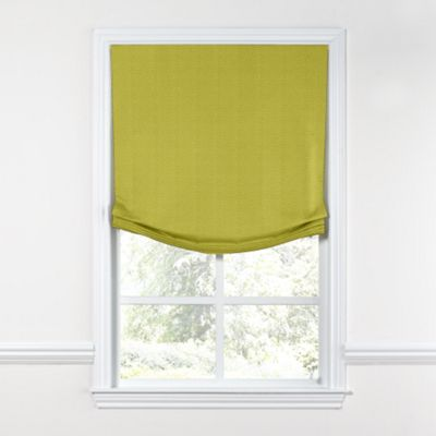 Chartreuse Green Linen Relaxed Roman Shade