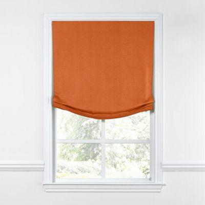 Burnt Orange Linen Relaxed Roman Shade