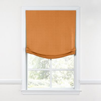 Burnt Orange Linen Relaxed Roman Shade