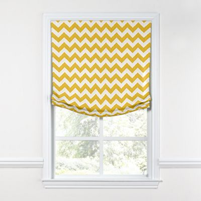 Bright Yellow Chevron Relaxed Roman Shade