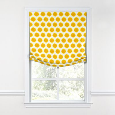 Bright Yellow Dot Relaxed Roman Shade