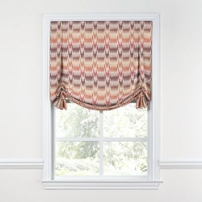 Orange & Pink Flame Stitch Tulip Roman Shade