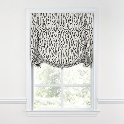 Black & White Animal Print Tulip Roman Shade
