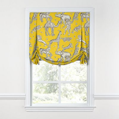 Yellow & Gray Zoo Animal Tulip Roman Shade