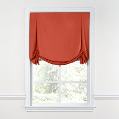 Tomato Red Sunbrella® Canvas Tulip Roman Shade