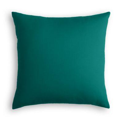Teal Sunbrella® Canvas Outdoor Pillow