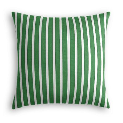 Emerald Green Thin Stripe Outdoor Pillow