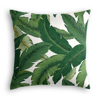 Green Banana Leaf Outdoor Pillow