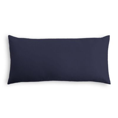 Navy Blue Sunbrella® Canvas Outdoor Lumbar Pillow