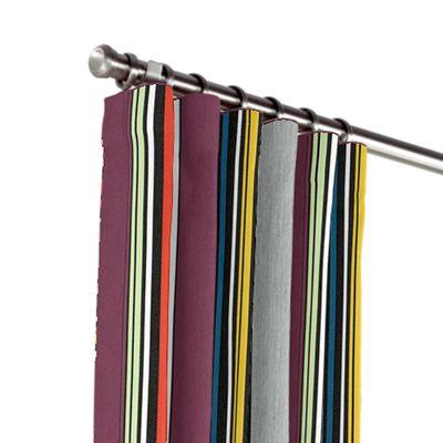 Purple Multicolor Striped Outdoor Curtains