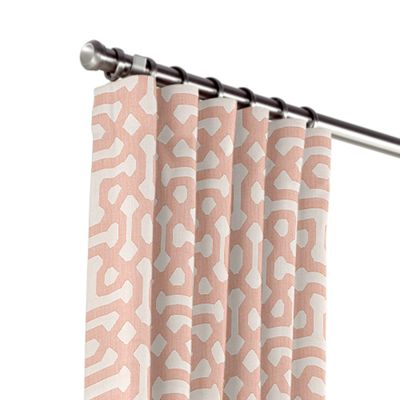 Pale Coral Trellis Outdoor Curtains
