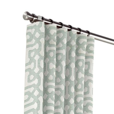 Pale Seafoam Trellis Outdoor Curtains
