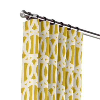 Bright Yellow Trellis Outdoor Curtains