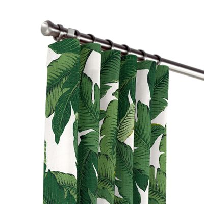 Green Banana Leaf Outdoor Curtains