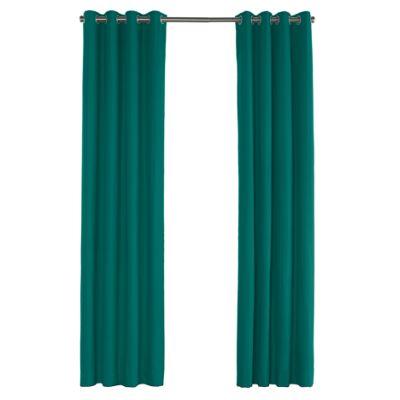 Teal Sunbrella® Canvas Outdoor Grommet Curtains
