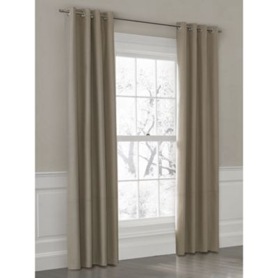 Custom outdoor color block curtain panel with grommet loom decor