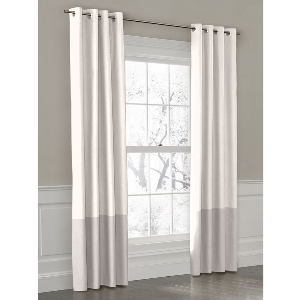 Custom Outdoor Color Block Curtain Panel With Grommet