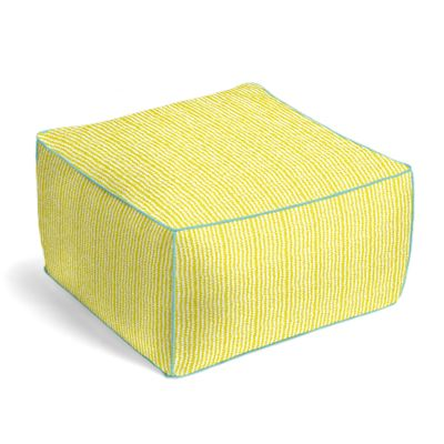 Outdoor Lime Green Vine Outdoor Pouf