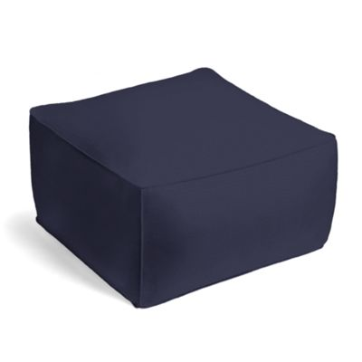 Navy Blue Sunbrella® Canvas Outdoor Pouf