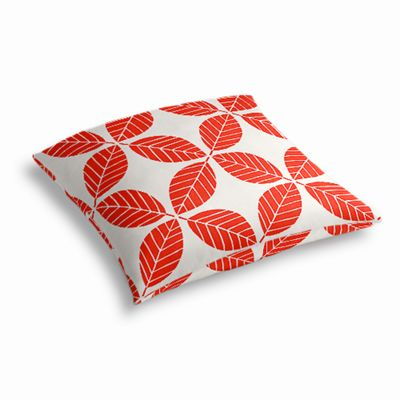 Geometric Coral Leaf Outdoor Floor Pillow