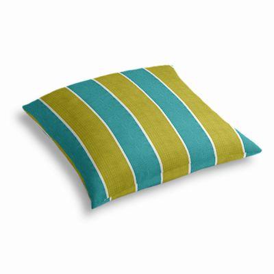 Lime & Teal Stripe Outdoor Floor Pillow