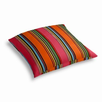 Pink Multicolor Stripe  Outdoor Floor Pillow