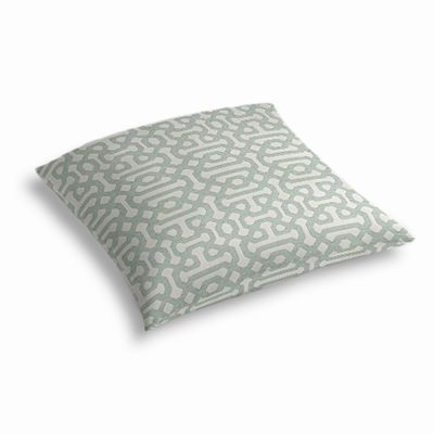Pale Seafoam Trellis Outdoor Floor Pillow
