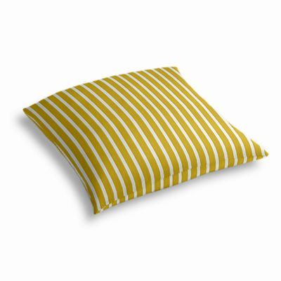 Bright Yellow Thin Stripe Outdoor Floor Pillow