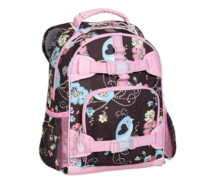 Mackenzie Chocolate Bird Small Backpack