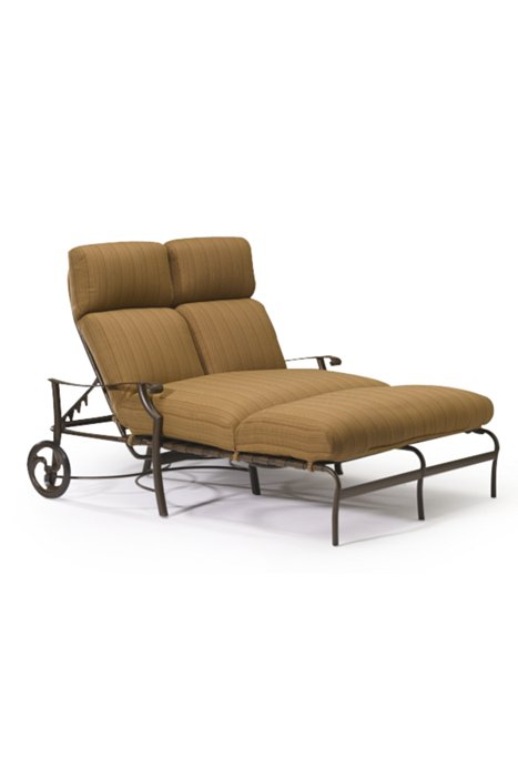 Montreux Cushion Double Chaise Lounge With Wheels Tropitone