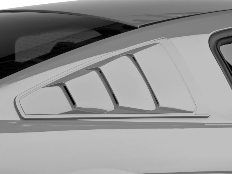 Mmd painted mustang quarter window louvers for 2000 mustang rear window louvers